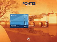 Portugal - Europa 2018 Bridges - Mint souvenir sheet