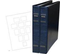 Stender album - Norge 1855-2018 Blå uden lommer i 3 bind skruebind