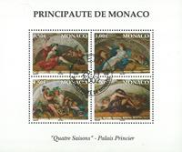 Monaco - De 4 årstider - miniark - postfrisk