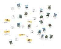 23 kuverter med forskellige stempler