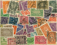 Germania inflazione - lotto di circa 80 doppi nuovi/usati