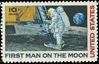 USA - Månelanding postfrisk enkeltmærke
