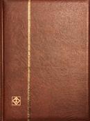 Indstiksbog - Brun - str. A4 - 32 sorte sider - Læderindbinding