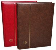 Classificatore - bordeaux - A4 - 64 pagine bianche  - cop. imbottita similp.