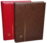 Classeur Leuchtturm COMFORT - Rouge - A4 - 64 pages blanches - couverture ouatinée