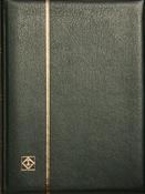 Indstiksbog - Grøn - str. A4 - 48 sorte sider - Læderindbinding
