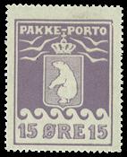Grønland pakkeporto AFA 8 ubrugt