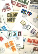 Sweden - Duplicate lot first day covers