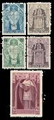 Belgique - 1932 - OBP 346/50 - oblitéré