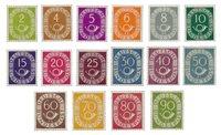 Tyskland 1952 - Michel - 123-138 / AFA 1086-1101 - Postfrisk