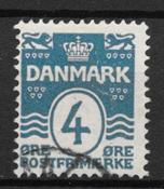 Danmark  - AFA 45y - stemplet
