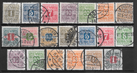 Danmark 1907 - AFA Av 1-20 - stemplet