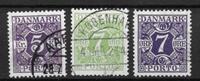 Danmark 1924 - AFA Po 16,17+21 - stemplet
