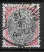 Danimarca 1875 - AFA 28 - timbrato