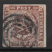 Danimarca 1852 - AFA Ia - timbrato