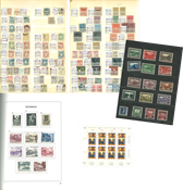 Autriche - Collection dans un album préimprimé 1948-1998