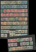 Danemark - Carte de classement avec timbres journaux