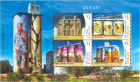 Australien - Silo kunst - Postfrisk miniark