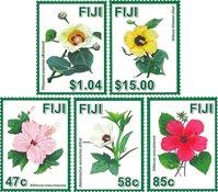 Fiji - Hibiscus blomster - Postfrisk sæt 5v