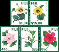 Îles Fidji - Fleur Hibiscus - Série neuve 5v