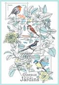 Frankrig - Havens fugle - Postfrisk miniark