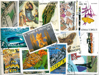 Sao Tomé & Principe - 300 different stamps