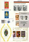 Vesttyskland - Dubletlot postfriske miniark