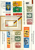 West Germany - Duplicate lot cancelled souvenir sheets
