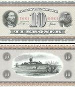 Dinamarca - Billete 10 kr H. C. Andersen