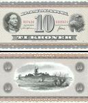 Danmark 10 kr seddel H. C. Andersen