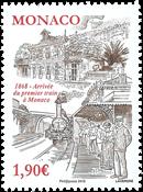 Monaco - Togdrift - Postfrisk frimærke