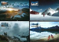 Norge - Turistforening - Fantastisk flot sæt maximumkort