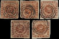 Danemark 5 pcs 4 skilling 1858