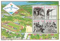 Åland - Ølege 1991 - miniark - postfrisk