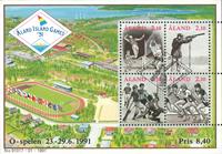 Åland - Ølege 1991 -miniark - stemplet