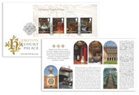Engeland - Hampton Court - Eerstedagenveloppe met souvenirvelletje