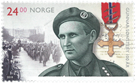 Norge - Gunnar Sonsteby - Postfrisk frimærke