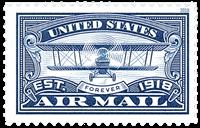 Etats-Unis - Poste aérienne, bleu - Timbre neuf