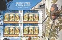 Australien - Perth Stamp Show - Postfrisk miniark