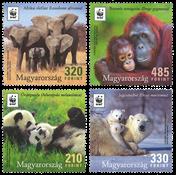 Ungarn - Truede dyrearter WWF - Postfrisk sæt 4v
