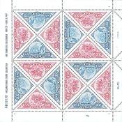 USA - Frimærke på frimærke - Postfrisk småark