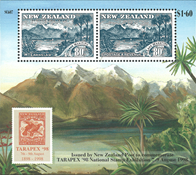 New Zealand - Udstillingsminiark - Postfrisk miniark