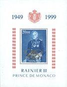 Monaco - Cinquantenaire de règne du Prince Rainier - Bloc-feuillet neuf