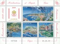Monaco - Udbygning af Monaco - Postfrisk miniark