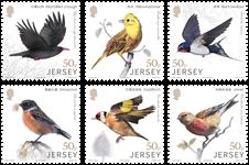 Jersey - Oiseaux, Amitiés avec la Chine - Série neuve 6v