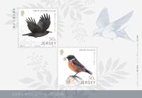 Jersey - Oiseaux, Amitiés avec la Chine - Bloc-feuillet neuf 2v