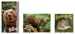 Suède - Les animaux de la forêt - Série neuve 3v