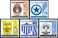 Grækenland - Sportsklubber - Postfrisk sæt 5v