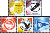 Grèce - Clubs de sport - Série neuve 5v