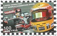 Østrig - Lewis Hamilton - Postfrisk frimærke